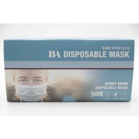 [보니애니] 일회용 마스크 50매 / MB필터 / 멜트블로운 마스크 / 덴탈형 마스크